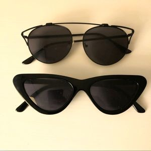 Two Free People Sunglasses - Cat Eye Frames
